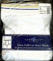 Vintage 3 In Pkg. Jcpenney Towncraft Full Cut Men's Briefs Underwear Size 32