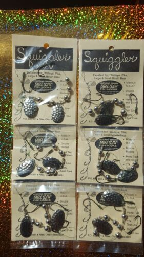 Crawler Worm Harness/'s 6pcs 3 Hook 2 Blades USA Made Walleye Perch Crappie