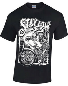 Restare-Basso-T-Shirt-Uomo-Donna-Motociclista