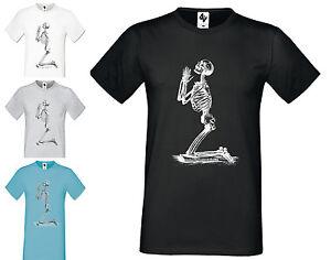 Herren-Designer-Skelett-Mode-Kurzaermlig-Halloween-Rundhals-T-Shirt