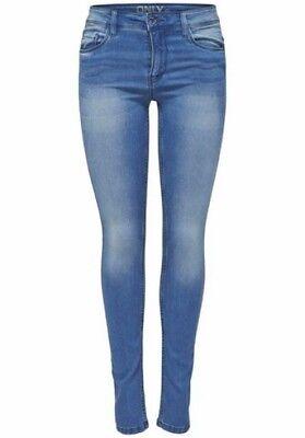 Only Jeans Ultimate NEU Gr.S-XL Damen Skinny Hose Stretch Denim Blau Used L30