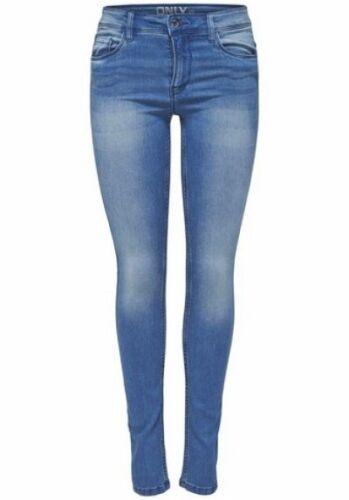 Only Jeans ULTIMATE NUOVO TAGLIA XS-L DONNA PANTALONE Skinny stretch denim blu used l32