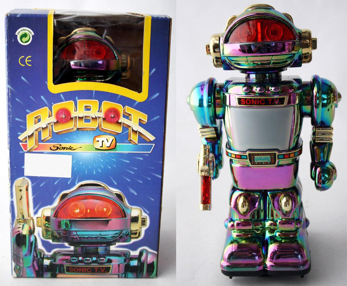 VERY RARE VINTAGE 80'S ROBOT SONIC TV HO KAI TOYS HK 706A B/O NEW MIB