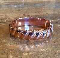 technibond 18k Rose Gold Plated Sculpted Bracelet Gorgeous