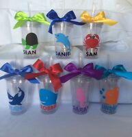 Personalize For Free Sea Creature Tumblers, Beach Tumblers, Kids Cups With Name