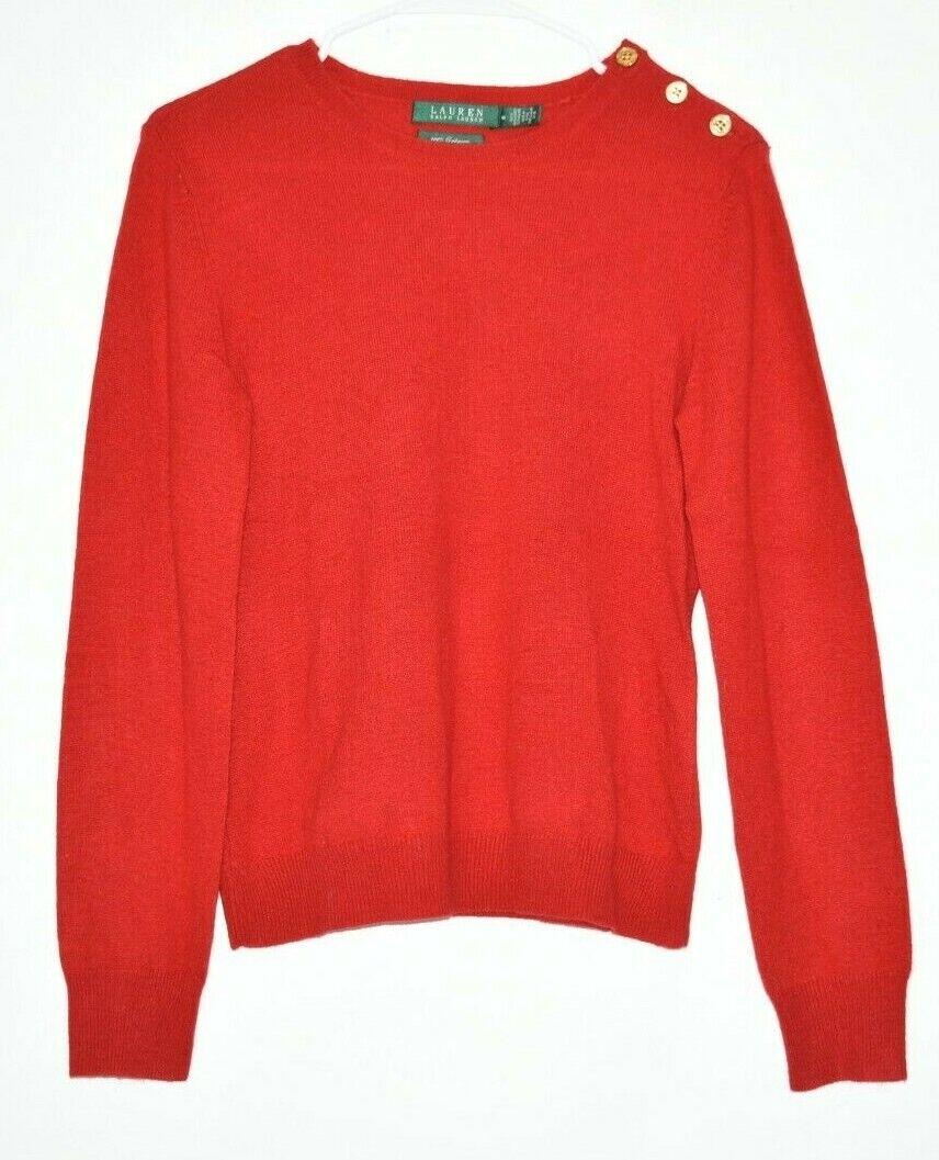 Lauren Ralph Lauren Women's Medium Long Sleeve 100% Cashmere Sweater