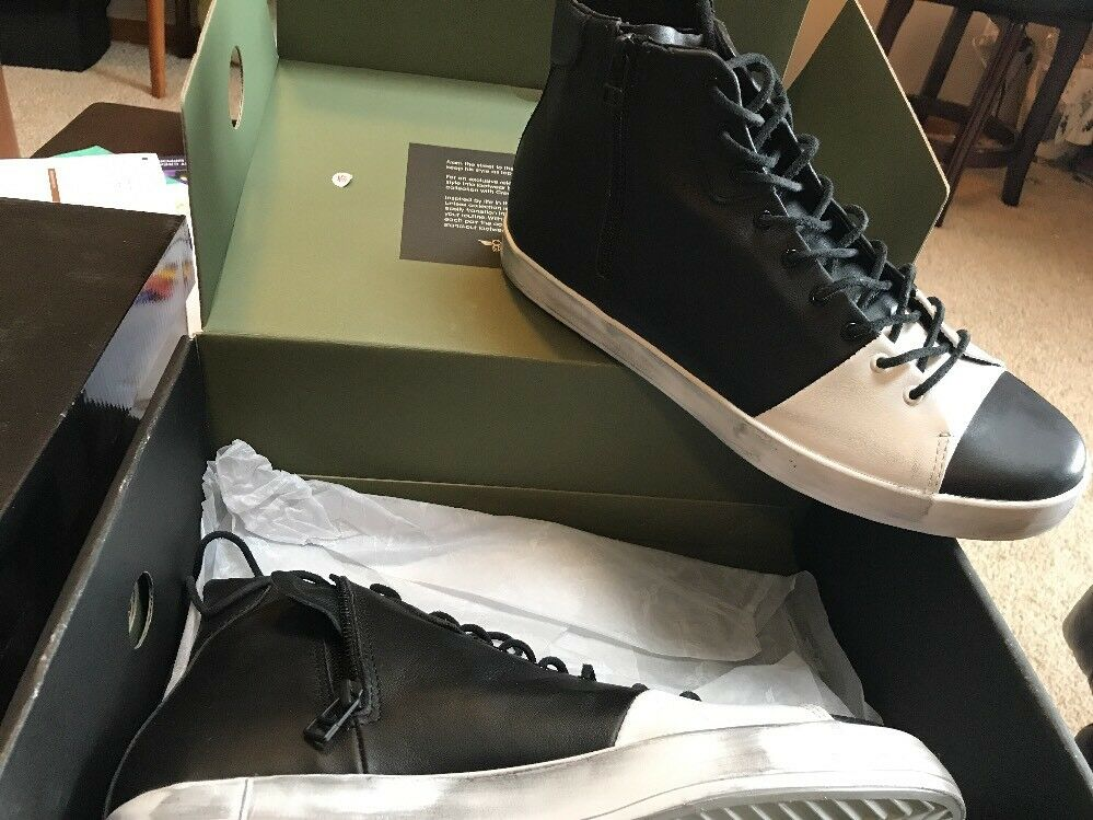 Creative Recreation Men's Carda Hi NJ Black Leather Nick Jonas Sneakers 11 1410