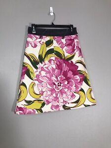 D-amp-G-Dolce-amp-Gabbana-Floral-Print-Womens-Cotton-Skirt-Size-26-40