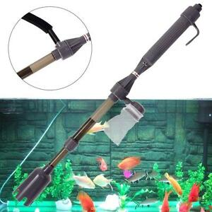 New-Aquarium-Battery-Syphon-Auto-Fish-Tank-Vacuum-Gravel-Water-Filter-Cleaner-SS
