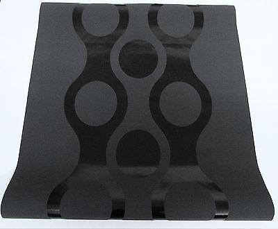 1797-22-8) moderne Vliestapete Design-Panel Tapete 0,70 x 3m schwarz anthrazit