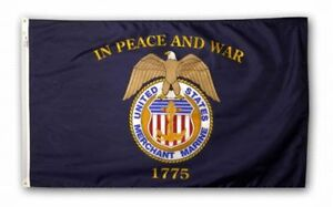United-States-MERCHANT-MARINE-In-War-and-Peace-1775-Official-Flag-4x6-USA-Made