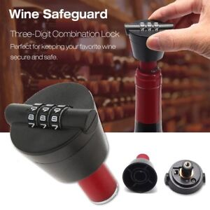 Wine-Bottle-Stopper-Password-Lock-Combination-Lock-Liquor-Sealer-Cork-Protection