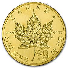 2000 Canada 1 oz Gold Maple Leaf Fireworks Privy BU - SKU #88203