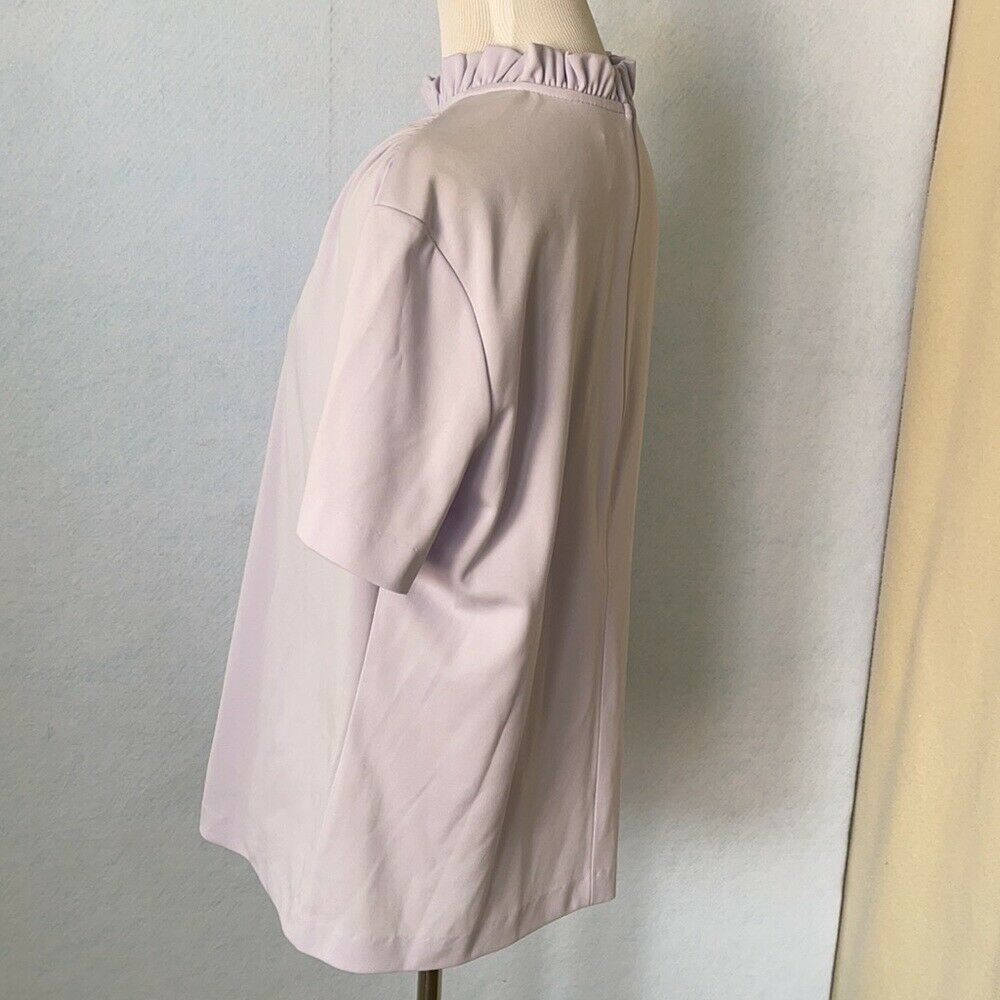 Graff Vintage Lilac Ruffled High Tie Neck Blouse,… - image 10