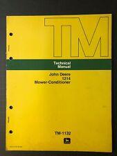 John Deere 1214 Mower Conditioner Technical Manual Tm 1132