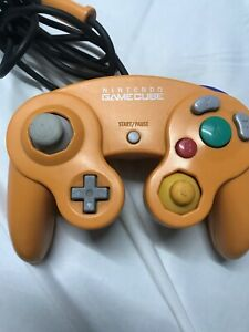 Official-Nintendo-Gamecube-Spice-Controller-Orange-Gamepad-OEM-Tested