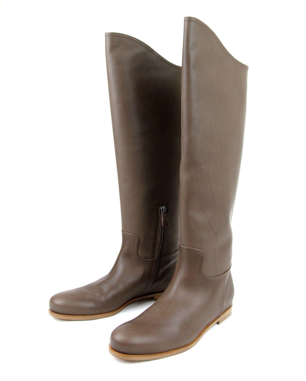1280 New Authentic Bottega Veneta Leather Tall Stiefel, braun, 297865 2515