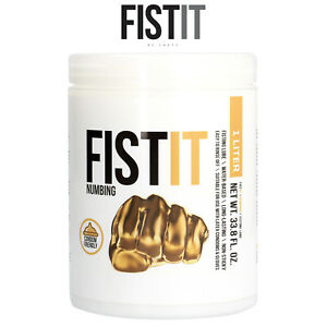 Fist It Lube 1000ml Numbing Water Based Lubrificante Base Acqua Paralizzante