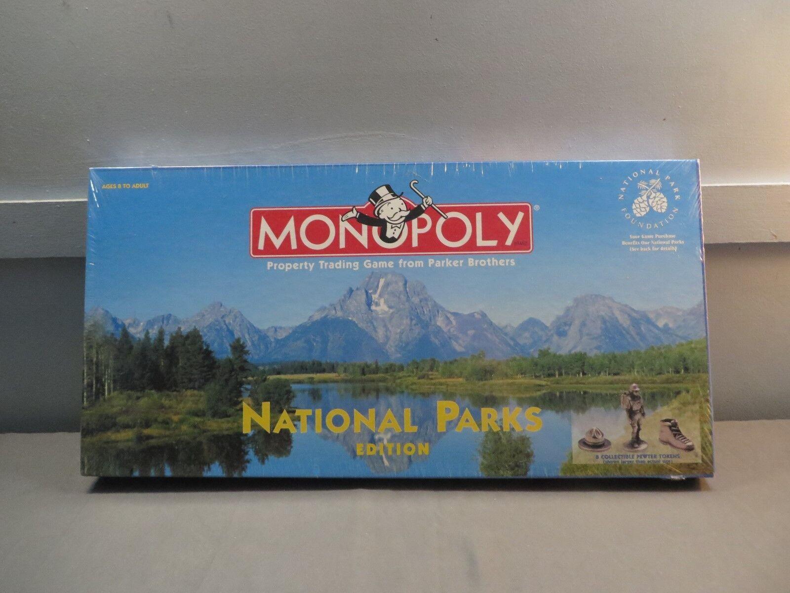 Parker brothers monopol nationalparks ausgabe versiegelt