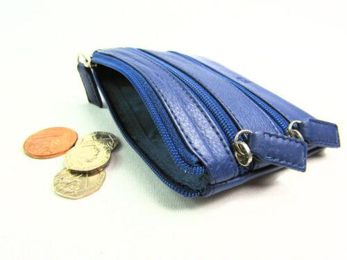 Damen Herren Premium Leder Münzbeutel Kreditkarteninhaber Geldbörse