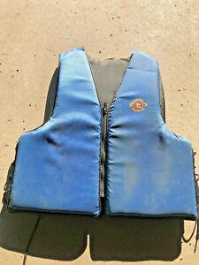 BS5-Vintage-Stearns-Adult-life-jacket-preserver-vest-Blue-Univerasl-adult-size