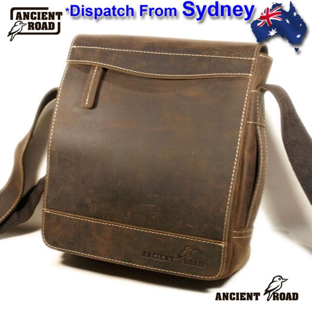 ANCIENT ROAD Genuine Leather Shoulder Bag 5 cardholder for Men iPad Bag QJ013-AU