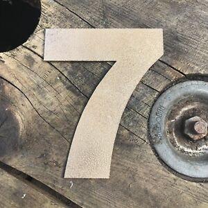 """7 5"""" Rustique En Métal Doré Numéro Lettre Maison Signe Lettrage Mot Boho Intérieur-afficher Le Titre D'origine"""