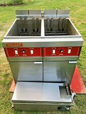 Vulcan Double Fryer Model 2erd50 480 Volts 3 Phase Filtration Xtra Clean