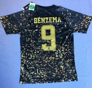 NEW Real Madrid Adidas EA Sports soccer jersey #9 Benzema Medium ...