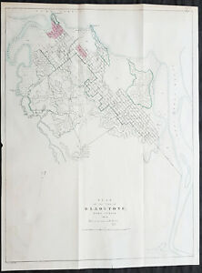 Queensland Australia Map.1854 Arrowsmith Rare Antique Map Town Plan Of Gladstone Queensland