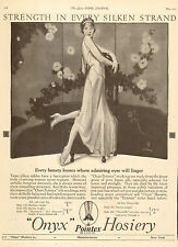 1925 vintage Hosiery AD ONYX Silk Pointex Stockings elegant perfect shape 050817