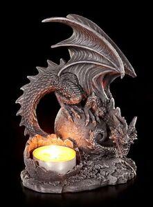Dragons-Porte-bougies-droite-Chandelier-Gothique-Figurine-FANTASIE-deco