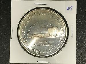 Philippines-1974-25-Pesos-Commemorative-Silver-Coin-BSP-25th-Lot-215