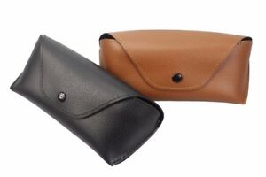 Brillenetui-Lederoptik-Brillenbox-Braun-Schwarz-Etui-Taschenetui-Sonnenbrille