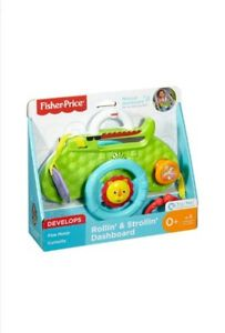 Fisher-Price-DYW53-Mattel-Musik-Lenkrad-Rainforest-Multicolour-Animal-Motifs