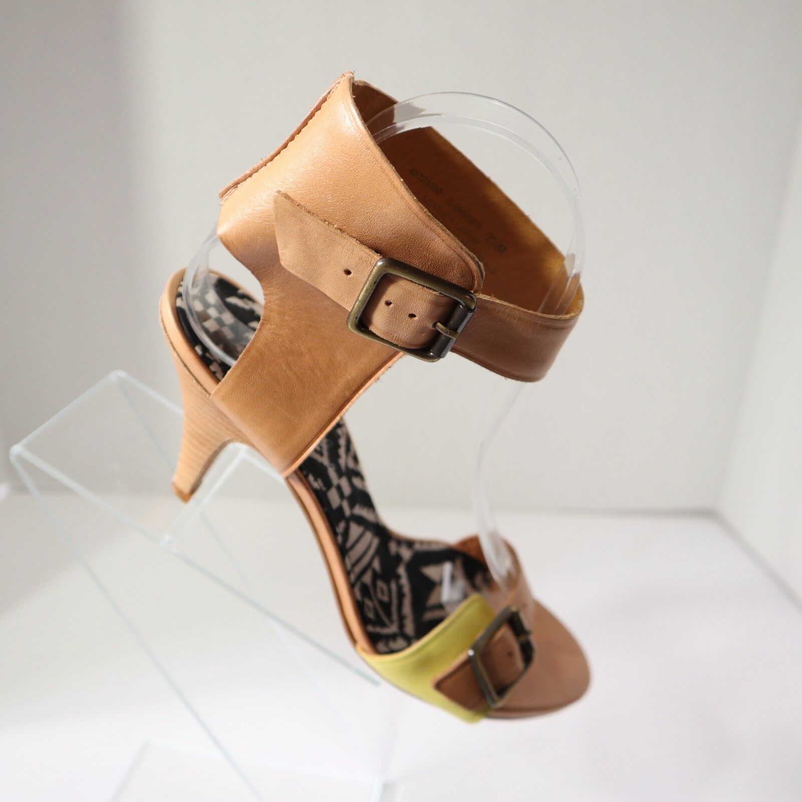 Womens SAM EDELMAN Brown Tan Yellow Leather Sandals Sandals Sandals Size 7.5 M d2eb09