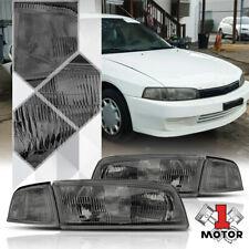 Smoke Tinted Headlight Clear Turn Signal Reflector For 97 01 Mitsubishi Mirage Fits 1999 Mitsubishi Mirage