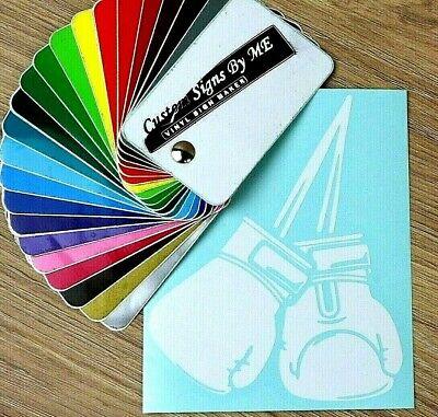 Modesto Guanti Da Boxe Sticker Vinyl Decal Adesivo Finestra Paraurti Portellone Laptop Bianco-