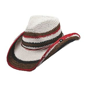 NEW-PETER-GRIMM-AMAL-MULTI-COLORED-STRIPED-KNIT-WESTERN-COWBOY-HAT