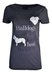 Emporio T Dogs Diamond Dark Armani Love Bulldogs shirt Rhinestone We Thin Grey rRqrwgt8n