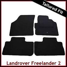 LAND ROVER FREELANDER Mk2 2006-2014 COMPLETAMENTE SU MISURA TAPPETINI AUTO MOQUETTE NERA