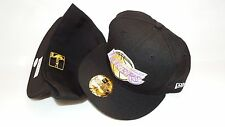 NEW ERA HAT CAP FITTED 59FIFTY LOS ANGELES LAKERS 7 3/4 BLACK YELLOW PURPLE NBA