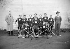 "Photo 1930s Vancouver, Canada ""Boy's Hockey Team"""