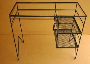 Image Is Loading Cool Vintage Mid Century Modern Wrought Iron Desk