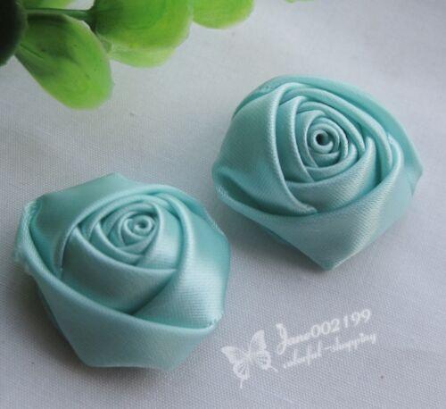 15 un Big cinta de raso rosa flores boda apliques lotes arcos Craft U Pick