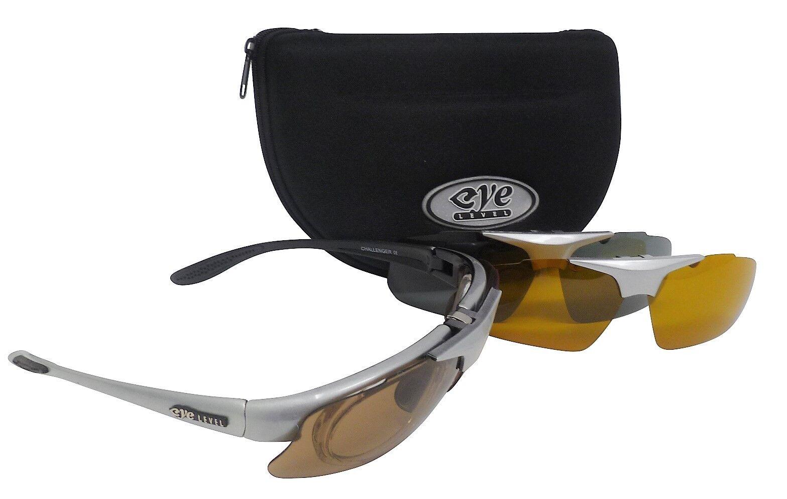 Challenger Sunglasses Set of 3 Polarized  Interchangeable UV400 Lenses (S)