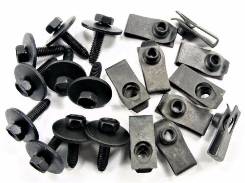 Qty.10 ea. 10mm Hex #147 M6-1.0mm x 25mm Long Body Bolts /& U-Nuts For Nissan