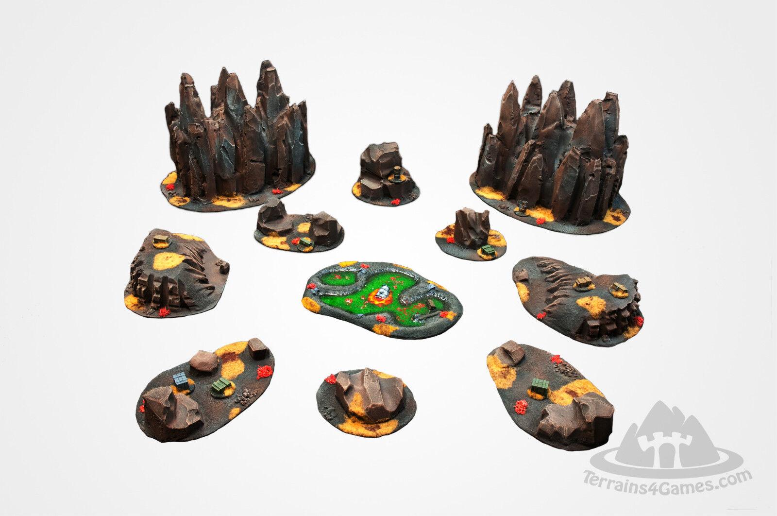 promociones de equipo Wargame escenario apocalíptico terrenos terrenos terrenos Set - 10 Puntos-w40k-Alien De Color Oscuro  con 60% de descuento