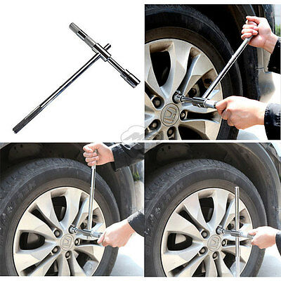 Portable Cross Wheel Nut Wrench Spanner Tire Carbon Steel Car Tyre Repair Tool