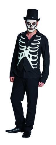 Weste Skelett Rippenweste Skelettweste Halloween Kostüm für Herren